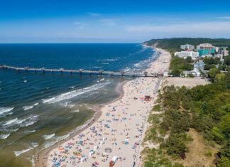 plażowanie w Międzyzdrojach